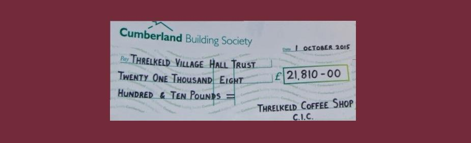 Donation to Village Hall