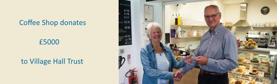 Coffee Shop donates £5000 2017